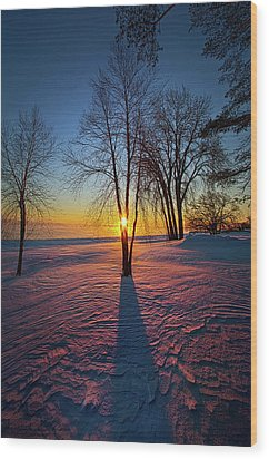 Wood Print featuring the photograph In That Still Place by Phil Koch