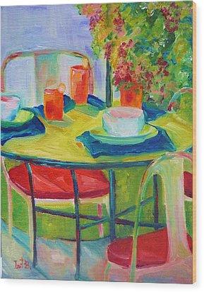 In The Backyard Wood Print by Irit Bourla
