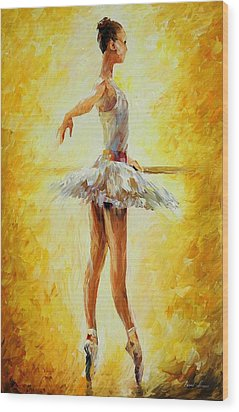 In The Ballet Class Wood Print by Leonid Afremov