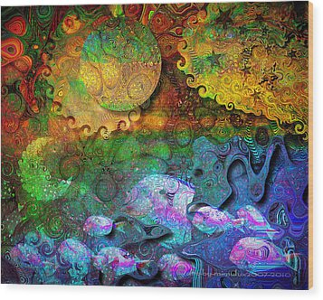 In The Beginning Wood Print by Mimulux patricia no No