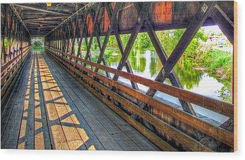 In The Bridge Wood Print by Jackie Novak