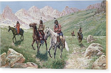 In The Cheyenne Country Wood Print by John Hauser