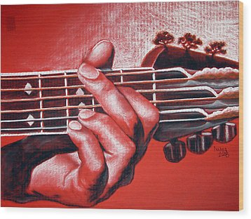 In The Chord Of G Wood Print by Patrick Parker