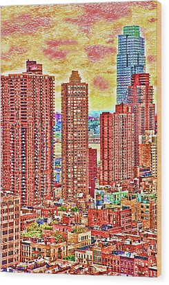 Wood Print featuring the photograph In The City by Barbara Manis