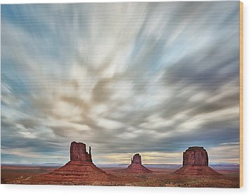 Wood Print featuring the photograph In The Clouds by Jon Glaser