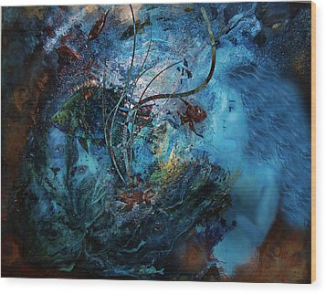 In The Deep Six Wood Print by Patricia Motley