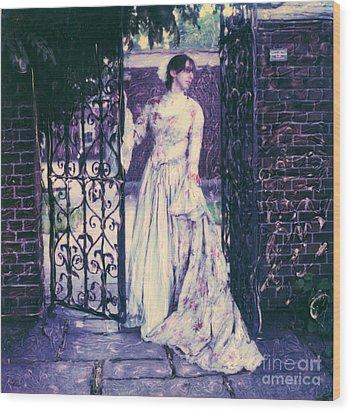 In The Doorway... Wood Print by Steven  Godfrey