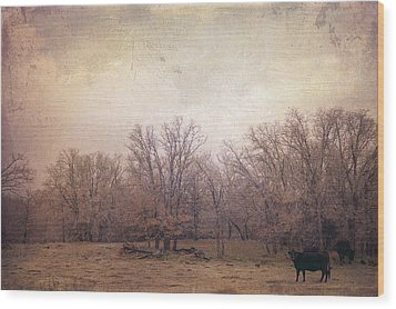 In The Field Wood Print