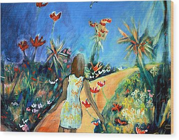 In The Garden Of Joy Wood Print by Winsome Gunning