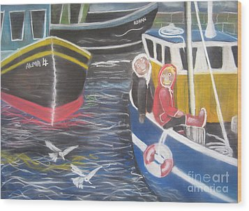In The Harbour Wood Print