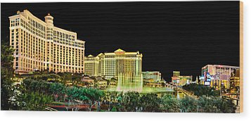 In The Heart Of Vegas Wood Print by Az Jackson