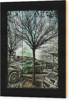Wood Print featuring the photograph In The Here And There by Mimulux patricia no No