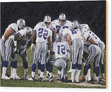 In The Huddle Wood Print