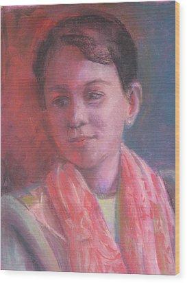 In The Light Wood Print by Pamela Preciado