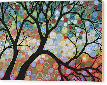 In The Limelight Wood Print by Amy Giacomelli