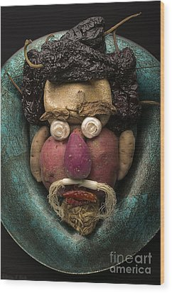In The Manner Of Arcimboldo Wood Print by Warren Sarle