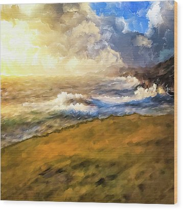 Wood Print featuring the mixed media In The Moment by Mark Tisdale