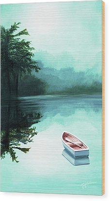 In The Morning Mist - Prints From My Original Oil Painting Wood Print