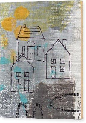 In The Neighborhood Wood Print by Linda Woods