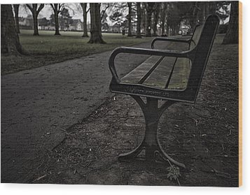 Wood Print featuring the photograph In The Park by Stewart Scott