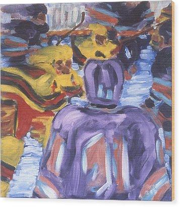 In The Play Wood Print by Ken Yackel