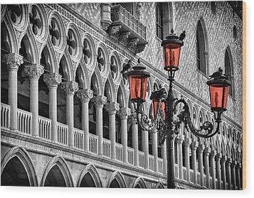 Wood Print featuring the photograph In The Shadow Of The Doges Palace Venice by Carol Japp