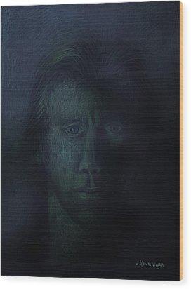 In The Shadows Of Despair Wood Print by Arline Wagner