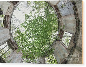 In The Tower Wood Print by Michal Boubin