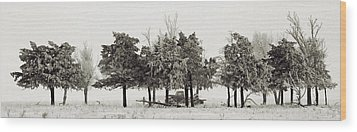 Wood Print featuring the photograph In The Tree Line by Don Durfee