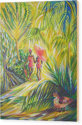 In The Tropics Wood Print by Anna  Duyunova