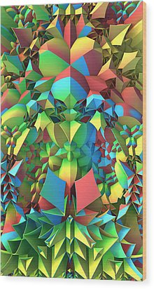 Wood Print featuring the digital art In The Tropics by Lyle Hatch