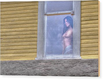 In The Window Wood Print by Naman Imagery