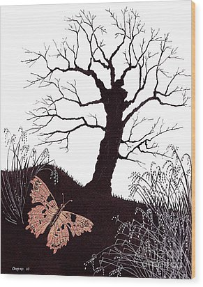 In The Winter Woods Wood Print by Stanza Widen