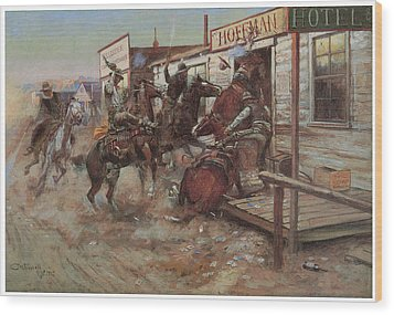 In Without Knocking Wood Print by Charles M Russell