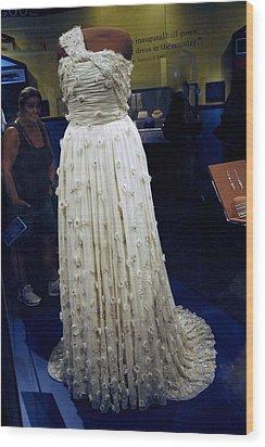 Inaugural Gown On Display Wood Print by LeeAnn McLaneGoetz McLaneGoetzStudioLLCcom