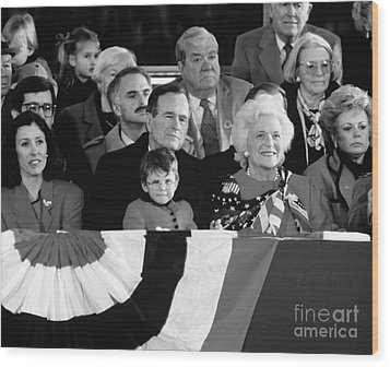 Inauguration Of George Bush Sr Wood Print by H. Armstrong Roberts/ClassicStock