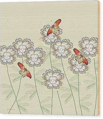 Incendia Flower Garden Wood Print by Rosalie Scanlon