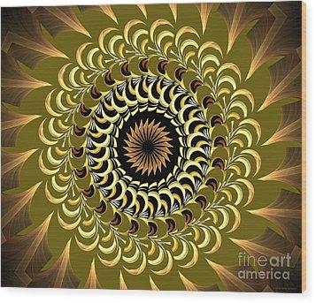 Incendia Kaleidoscope Wood Print by Deborah Benoit