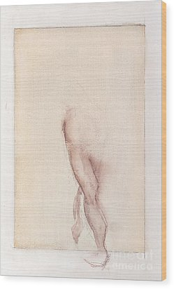 Incognito - Female Nude Wood Print by Carolyn Weltman