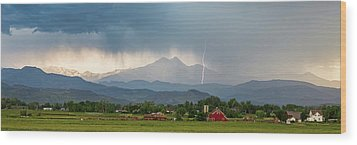 Wood Print featuring the photograph Incoming Storm Panorama View by James BO Insogna