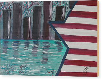 Independence  Wood Print by Alexandra Torres