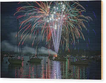 Wood Print featuring the photograph Independence Day In Maine by Rick Berk