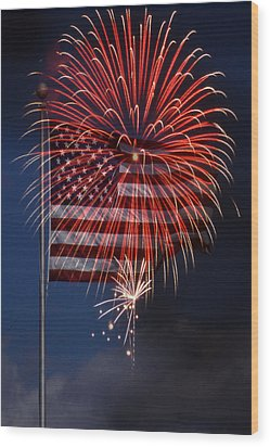 Independence Day Wood Print by Skip Willits