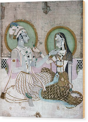 India: Couple Wood Print by Granger