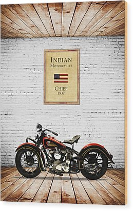 Indian Chief 1937 Wood Print by Mark Rogan