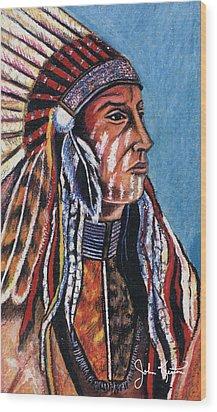 Indian Chief Wood Print by John Keaton