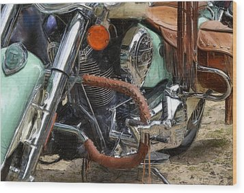 Indian Chief Vintage Ll Wood Print by Michelle Calkins