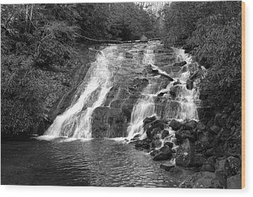 Indian Falls At Deep Creek Wood Print by Kathy Schumann