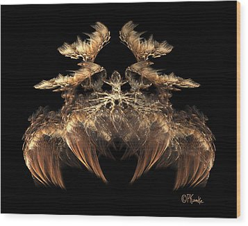 Indian Feather Headdress 5 Wood Print