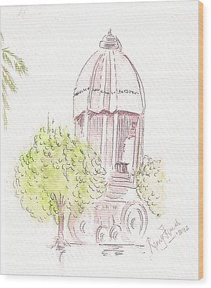 Indian Monument - Valluvarkottam Wood Print by Remy Francis